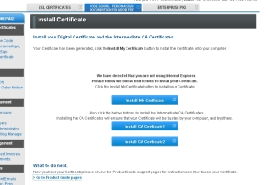 Instructions to install certificate